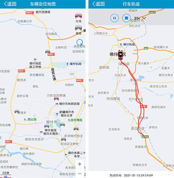 车辆轨迹图